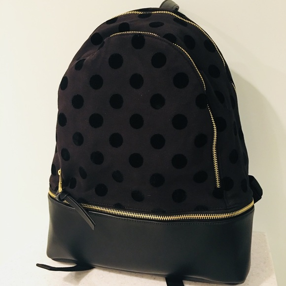 cada2337c Madden Girl Bags | Adden Girl Polka Dot Double Zip Backpack | Poshmark